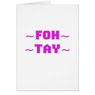Fohtay Tarjeta De Felicitación