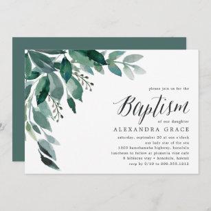 Foliage Abundante  Invitación al bautismo