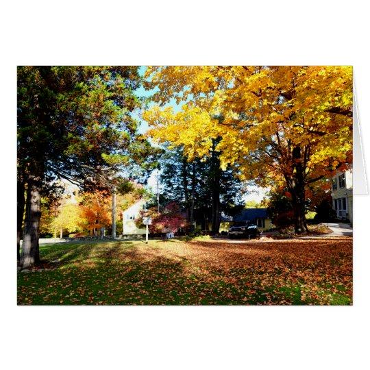 Follaje de otoño - tarjeta de felicitación en