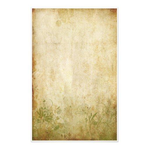 Follaje del vintage - verde papelería de diseño