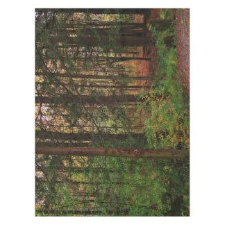Follaje escénico colorido del bosque del otoño mantel
