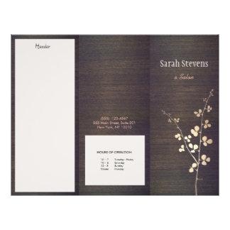 Folleto de madera del balneario de la naturaleza folleto 21,6 x 28 cm