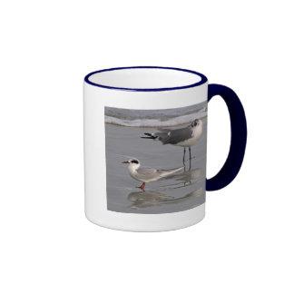 Fomenta la golondrina de mar y la gaviota taza de dos colores