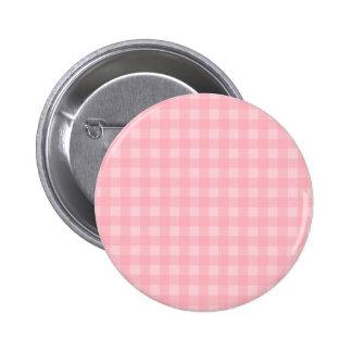 Fondo a cuadros del modelo de la guinga rosada chapa redonda de 5 cm