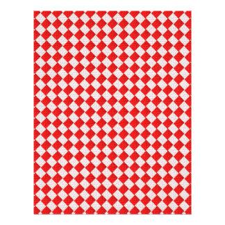 Fondo a cuadros rojo del mantel de la comida campe tarjetones