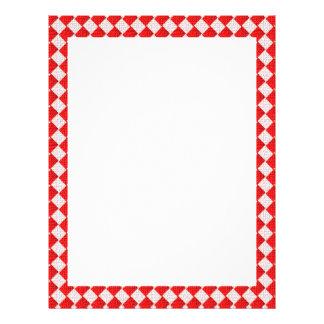 Fondo a cuadros rojo del mantel de la comida folleto 21,6 x 28 cm