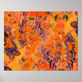 Fondo abstracto colorido del multicolor póster