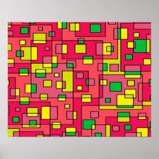 Fondo abstracto colorido del póster