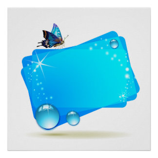 Fondo abstracto con la mariposa y los descensos a poster