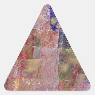 fondo abstracto de la pintura pegatina triangular