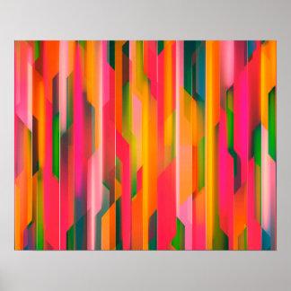 Fondo abstracto del color póster