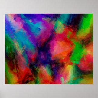 Fondo abstracto del multicolor del modelo póster