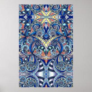Fondo abstracto floral del poster