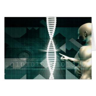 Fondo abstracto médico de un futurista tarjeta pequeña