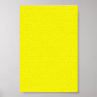 Fondo amarillo de neón brillante en un poster