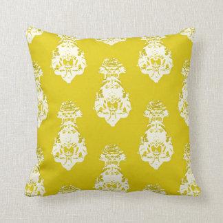 Fondo amarillo del vintage cojín decorativo