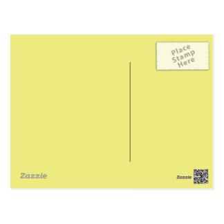 Fondo amarillo en colores pastel en una postal