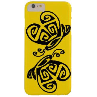 Fondo amarillo para el diseño invertido de la funda barely there iPhone 6 plus