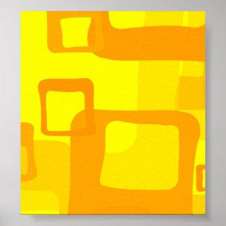 Fondo amarillo retro póster
