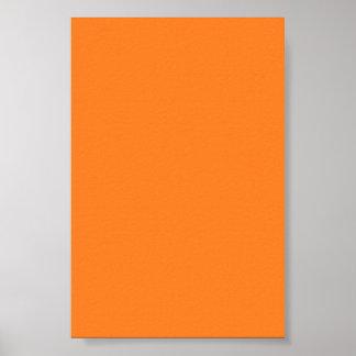 Fondo anaranjado brillante en un poster