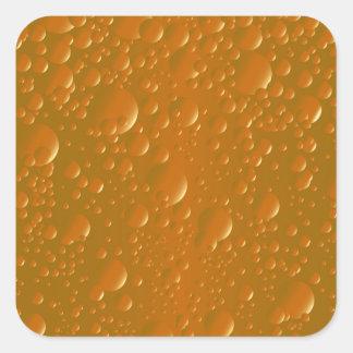 Fondo anaranjado de Bibble de la sombra Pegatina Cuadrada