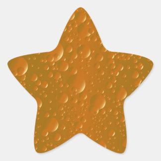 Fondo anaranjado de Bibble de la sombra Pegatina En Forma De Estrella