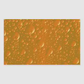 Fondo anaranjado de Bibble de la sombra Pegatina Rectangular