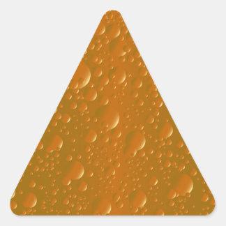 Fondo anaranjado de Bibble de la sombra Pegatina Triangular