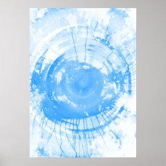 Fondo azul abstracto de la acuarela, textura póster