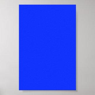 Fondo azul de neón brillante en un poster