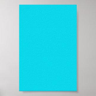 Fondo azul de neón de la aguamarina en un poster