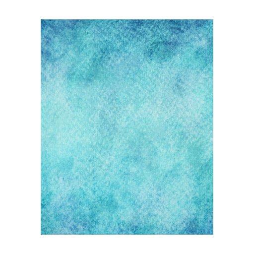 Fondo azul de papel de la turquesa de la acuarela impresión en lona estirada