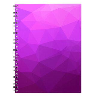 Fondo bajo abstracto púrpura bizantino del cuaderno