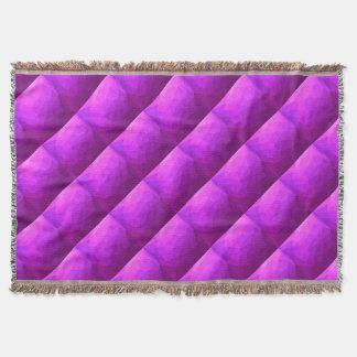 Fondo bajo abstracto púrpura bizantino del manta tejida