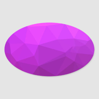 Fondo bajo abstracto púrpura bizantino del pegatina ovalada