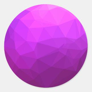 Fondo bajo abstracto púrpura bizantino del pegatina redonda