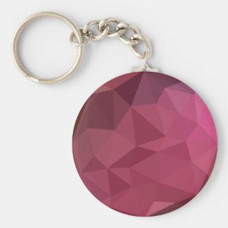 Fondo bajo abstracto rosado del polígono de la llavero redondo tipo chapa