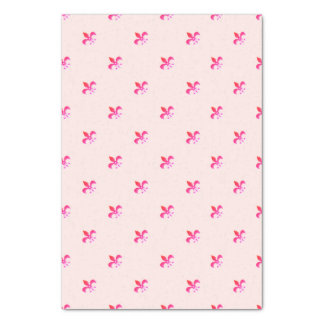 Fondo blanco con la flor de lis rosada papel de seda