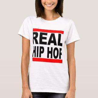 Fondo blanco de la camiseta blanca real de Hip Hop