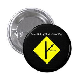 Fondo Botón-Pequeño-Negro del logotipo de MGTOW Pin