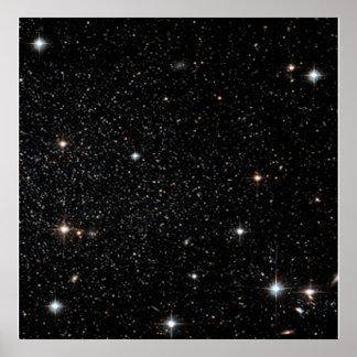 Fondo - cielo nocturno y estrellas póster