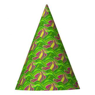 Fondo colorido de los remolinos gorro de fiesta