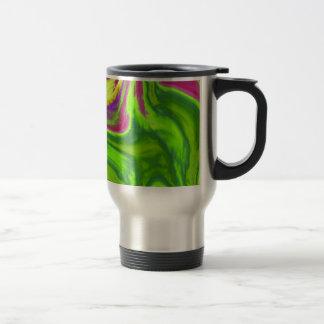 Fondo colorido de los remolinos taza de viaje