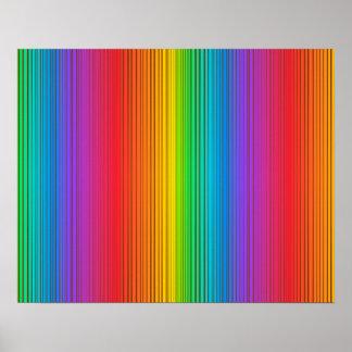 Fondo colorido del arco iris póster
