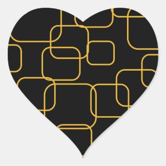 Fondo con las cajas pegatina en forma de corazón