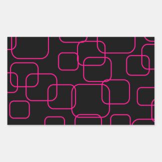 Fondo con las cajas pegatina rectangular