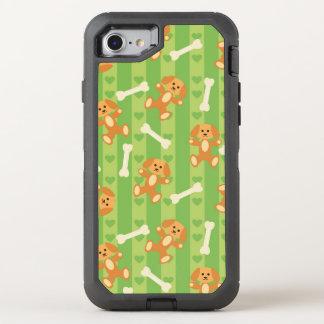 fondo con los perros y los huesos funda OtterBox defender para iPhone 8/7