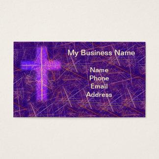 Fondo cristiano abstracto con la cruz que brilla tarjeta de negocios