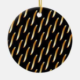 fondo de cadena adorno navideño redondo de cerámica