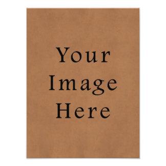 Fondo de cuero del papel de pergamino de Brown del Impresiones Fotograficas